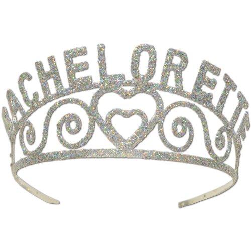 Glittered Bachelorette Tiara Party Accessory