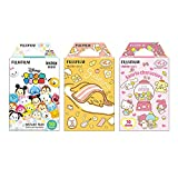 Fujifilm Instax Mini Instant Camera Film 3-Pack Bundle Set , Tsumutsumu , Gudetama , Sanrio 5 Popular Characters [Limited Edition] -Japan Import