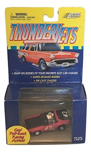 Johnny Lightning Thunderjets Pull Back/ #43 Road Runner AFX Slot Car (Slot Car Runner)