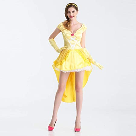 hhalibaba Disfraces de Cosplay de Mujer Belle Yellow Princess ...