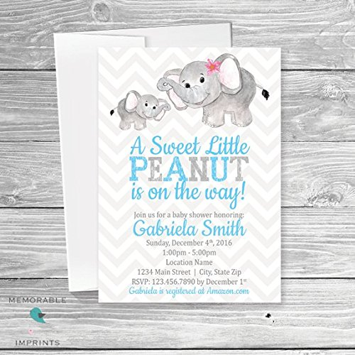 Amazon Elephant Themed Baby Shower Invitation Baby Elephant