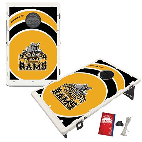 Framingham State Rams Baggo Bean Bag Toss Cornhole Game Vortex Design by Victory Tailgate
