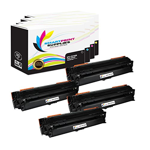 Smart Print Supplies Compatible 307A Toner Cartridge Replacement for HP Laserjet CP5225DN CP5225N Printers (CE740A Black, CE741A Cyan, CE742A Magenta, CE743A Yellow) - 4 Pack