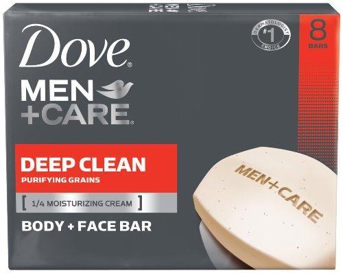 Dove Men + Care corps et visage Bar, Deep Clean 4 oz, 8 bars