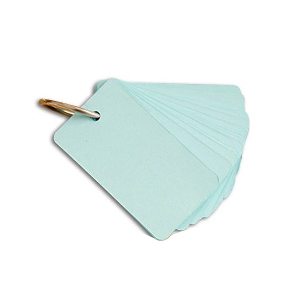 Fangfeen Portable rilievi di appunto Flash Cards fai da te scheda in bianco di colore della caramella Buckle Binder Note (colore casuale)