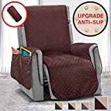 Vailge Anti-Slip Oversized Recliner Covers, Water Resistant Recliner Slipover with Back Non-Slip Dots,Machine Washable Recliner Covers for Dogs, Children, Pets(Recliner Oversize:Chocolate)