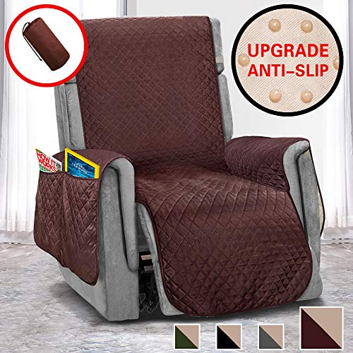 Vailge Anti-Slip Oversized Recliner Covers, Waterproof Recliner Slipover with Back Non-Slip Dots,Machine Washable Recliner Covers for Dogs, Children, Pets(Recliner Oversize:Chocolate)