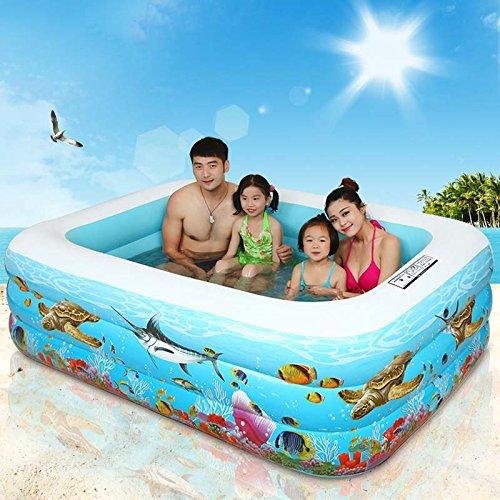 Inflatable Bathtub Infant Child Blue Swimming Pool Inflatable Thicken Family Swimming Pool Child/Adult Marine Ball Pool