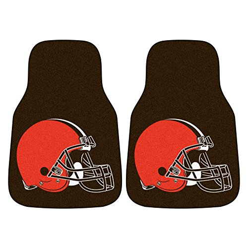 FANMATS NFL Cleveland Browns Nylon Face Carpet Car Mat ()
