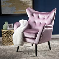 Ashton Mid Century Light Lavender Velvet Arm Chair
