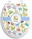 RNK Shops Animal Alphabet Toilet Seat Decal - Round (Personalized)
