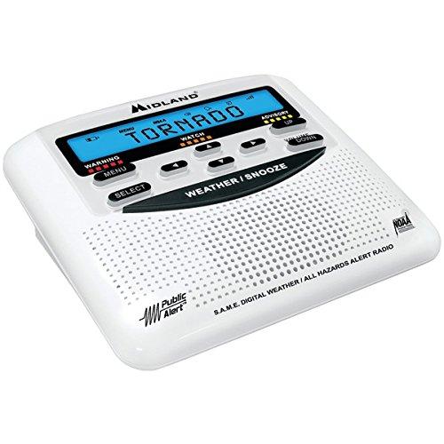 Midland WR-120 NOAA Public Alert-Certified Weather Radio with SAME, Trilingual Display, and Alarm Clock(Model no. 120C)