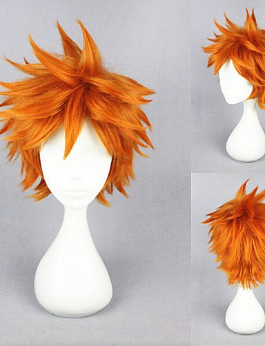 Beauty Fashion Wigs Short Haikyuu!!-hinata syouyou Orange Anime Cosplay Wig
