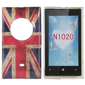 UK Flag TPU Protective Back Cover Case For Nokia Lumia 1020