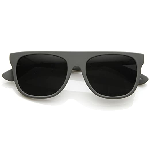b7d17b0f4c43 Image Unavailable. Image not available for. Color: Modern Retro Flat-Top  Aviator Style Sunglasses Super ...