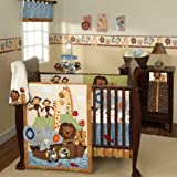 S.S. Noah 6 Piece Baby Crib Bedding Set with Bumper by Lambs and Ivy, Baby & Kids Zone