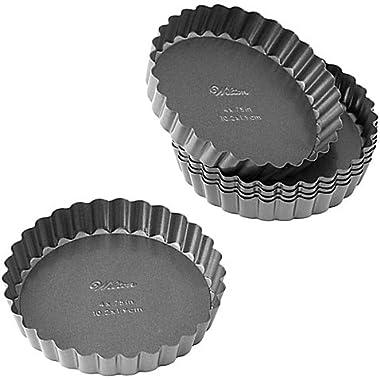 Wilton Advance Select Premium Nonstick 4-Inch Tart/Quiche Pans in Gunmetal (Set of 6)