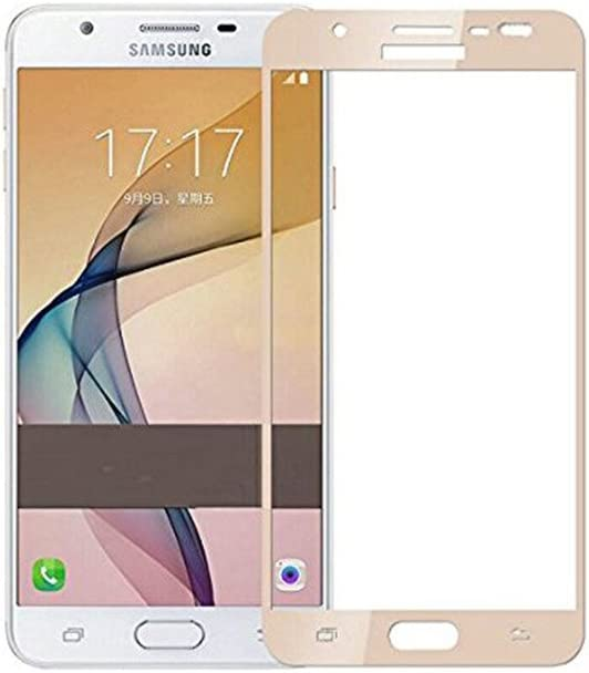 Max Pro Full Edge Tempered Glass For Samsung Galaxy J7 Prime  Gold  Full  Screen guards