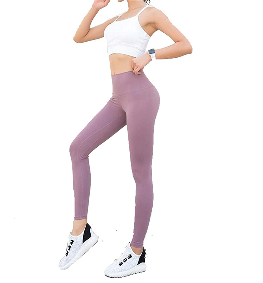 Pink F1rst Rate Women Workout Tummy Control Leggings Fitness Sports Running Yoga Athletic Pants