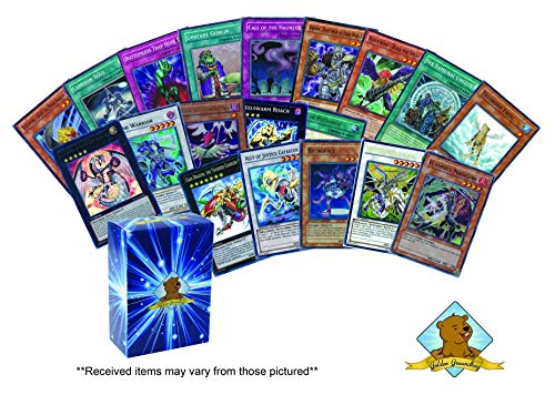 Super Ultra Yugioh Lot of 100 Cards - with A Mix of 10 Super/Ultra Holo Rares! Includes Golden Groundhog Deck Box!
