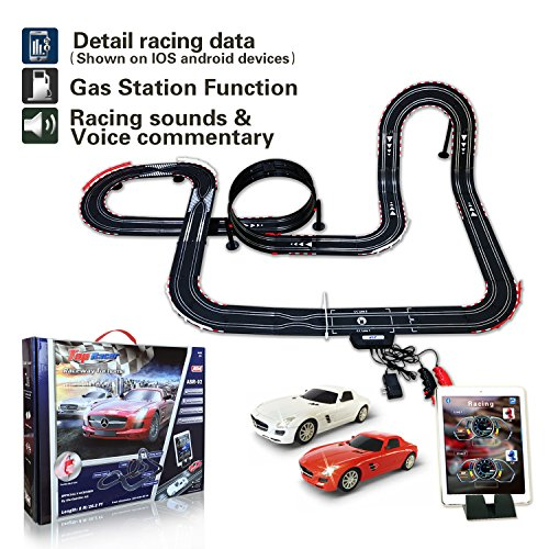 AGM slot car set with racing assistant APP No.ASR-02 1:43 scale from AGM