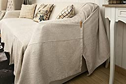 KARUILU home 1 Piece Heavy Fabric Sofa Furniture Cover Throw with Pins (83\