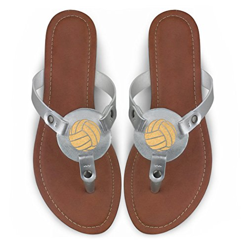 Chalktalksports Volleyball Gravert Thong Sandal Volleyball