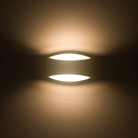 Sobrovo Led Wall Sconce Up And Down Indoor Wall Light Uplighter Downlighter  Gypsum Plaster Sconce Lights