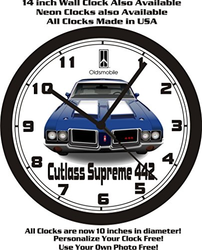 Muscle Car Memories Oldsmobile Cutlass Supreme 442 Wall Clock-Free USA Ship! ()