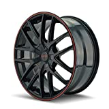 jeep black rims - Touren TR60 3260 Wheel with Black Finish with Red Ring (16x7