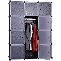 12 Cube Closet Organizer, Garage Storage Racks Sets, Shelf Cabinet, Panels and Units for Books, Plants, Toys, Shoes, Clothes, for Bedroom & Living Room
