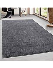 laagpolig tapijt, modern, woonkamer, eenkleurig, gemêleerd, effen, voordelig, versch. Kleuren: beige, 60 x 100 cm...