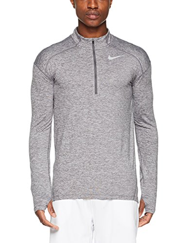 - Nike Men's Dry Element 1/2-Zip Running Top (Dark Grey/HTR, X-Large)