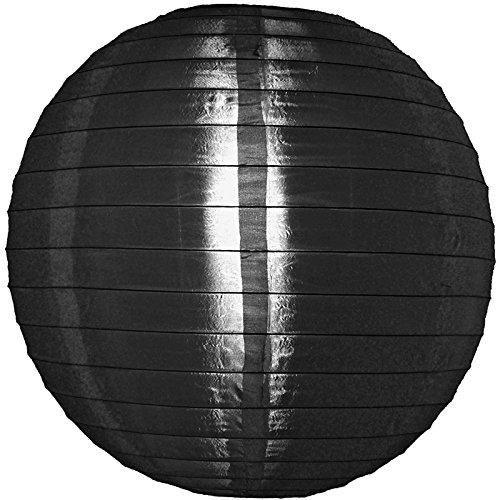 "UPC 609613412738, Quasimoon 24"" Black Nylon Lantern, Durable Hanging Decoration by PaperLanternStore"
