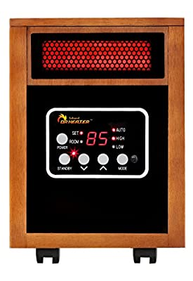 Dr Infrared Heater 1500W Carbon Infrared Heater Indoor Outdoor Patio Garage Wall or Ceiling Mount with Remote, Black (Certified Refurbished)