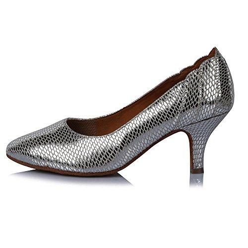 YFF Women's Modern Dance Shoes Ballroom Latin Tango Ladies Girls high heels 63mm heel 31219 rlZCns