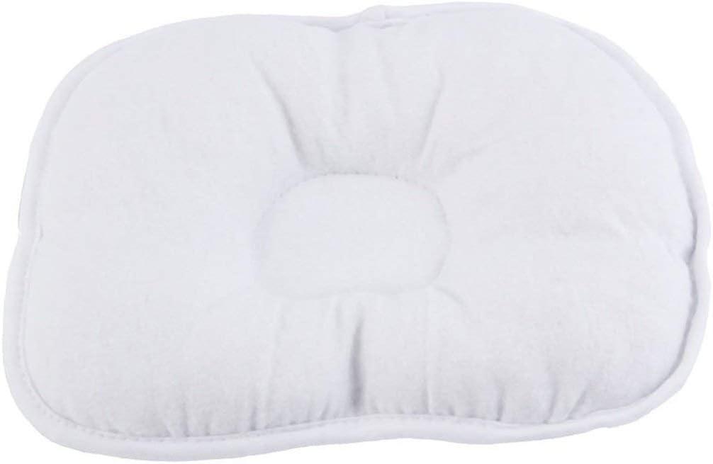 Kongqiabona Lovely Cute Bear Cartoon Pattern Pillow Newborn Infant Baby Support Cushion Pad Prevent Flat Head Cotton Pillow For Baby