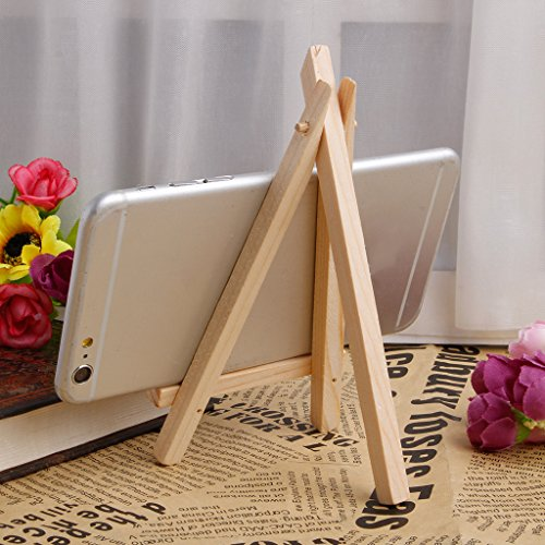 10Pcs Mini Wooden Easel Display Painting Stand Card Canvas Holder Wedding Party ()