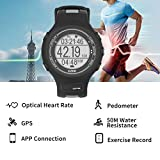 EZON T907-hr Fitness Activity Tracker HR Watch with Heart Rate Monitor GPS Running Sports Pulse Watch