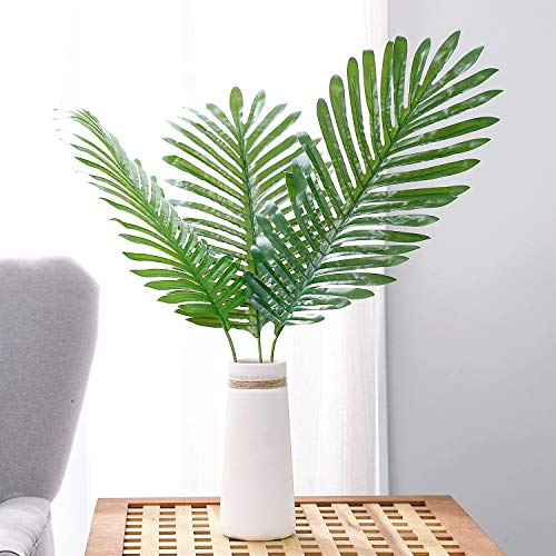 Olivachel Artificial Leaves Tropical Monstera Leaves Palm Tree Leaf Plant DIY Decorations for Home Kitchen Wedding Party (Palm Leaves - 3pack)