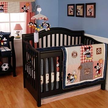 vintage mickey nursery 4 piece bedding set