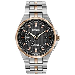 Men's Citizen Eco-Drive World Perpetual A-T Two-Tone Watch CB0166-54H