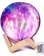 Laelr Moon lamp, 16 kleuren ED RGB maanlicht draagbaar nachtlampje met Touch Control USB oplaadbare LED nachtlamp Touch Control voor kinderen Kerstmis verjaardag