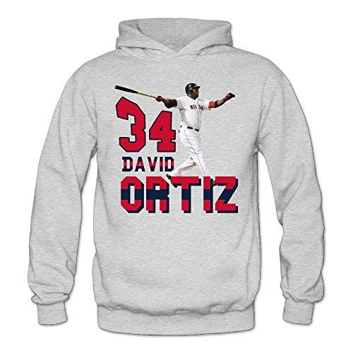 Funny David #34 Ortiz Baseball Women's Long Sleeve Sweater XXL Ash