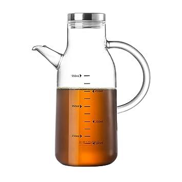 Aceite caldera de vidrio transparente a prueba de fugas pequeñas botellas de salsa de soja botella
