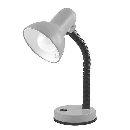 amazing silver desk lamp. Lloytron L958SV Desk Lamp  Silver Amazon co uk Lighting