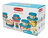 Rubbermaid Food Strg Set 40pc Tl 40-piece Turquoise