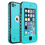 iPod Touch 5 Waterproof Case, iThroughTM iPod touch 5 Waterproof Case with Stand, Dust Proof, Snow Proof, Shock Proof Case, Scratch Protective Carrying Cover Case for iPhone iPod touch 5 (Blue)