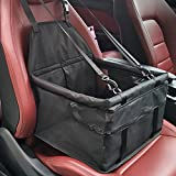 Meiying Pet Car Seat Carrier for Dog Cat,Puppy Small Pets Travel Cage Lookout Booster Seat (15.75L x 12 W x 9.8 H, Black2)