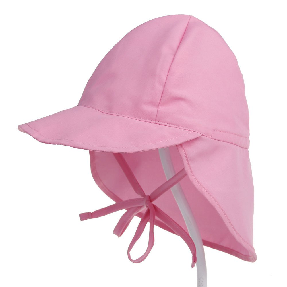 Boomly Kids Sun Protection Hat UPF50 Adjustable Flap Hat Neck Protection Summer Visor Cap Breathable Fast Drying Beach Hat For Babies and Toddlers